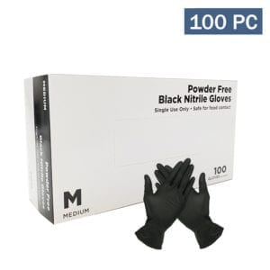 NITRILE Gloves powder free (Black)