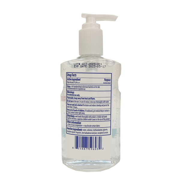 hand sanitizer 8oz wholesale
