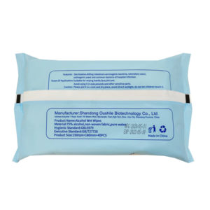 alcohol disinfectant wet wipes