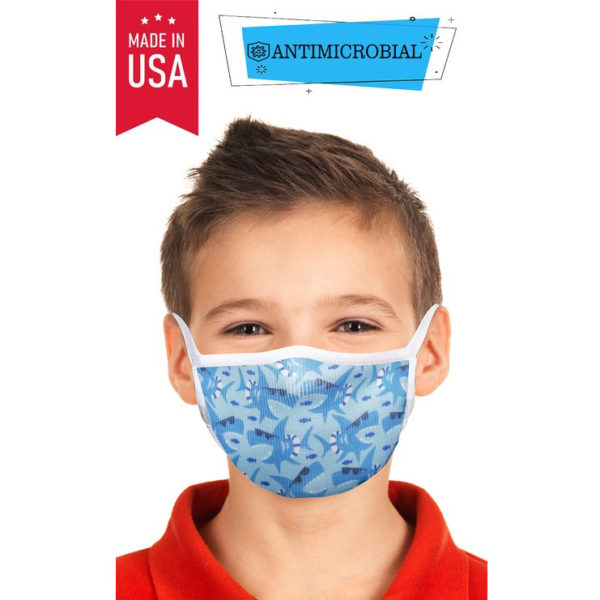 kids microbial print face mask