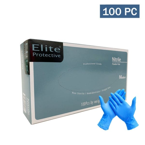 Elite Nitrile Powder Free Gloves