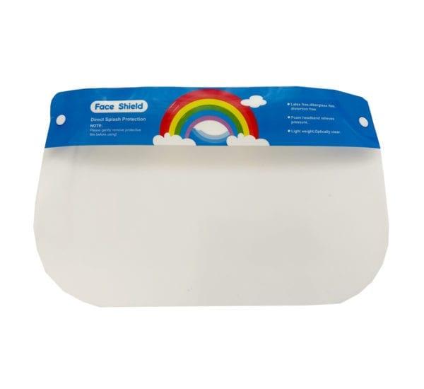 Rainbow kids face shield
