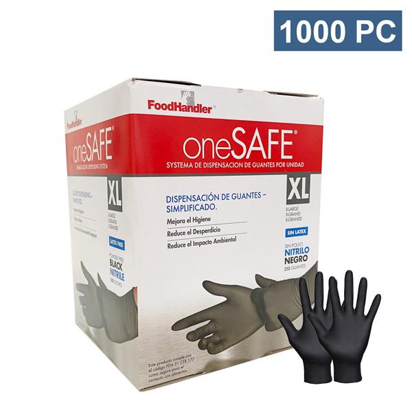onesafe black nitrile gloves food safe wholesale los angeles