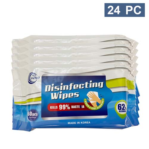 62% alcohol wipes