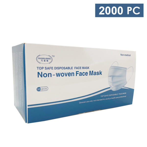 adult disposable 3ply mask wholesale los angeles bulk