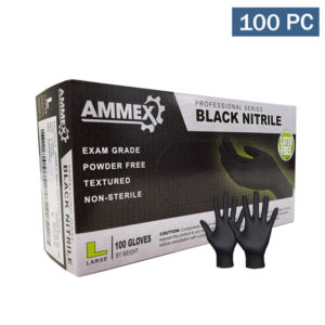 Ammex Black Nitrile Disposable Gloves wholesale examination medical