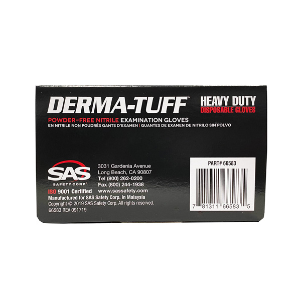 derma-tuff nitrile black disposable gloves wholesale los angeles