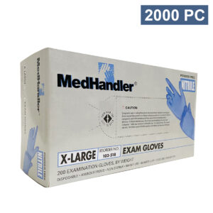 medhandler blue nitrile examination medical disposable gloves wholesale los angeles