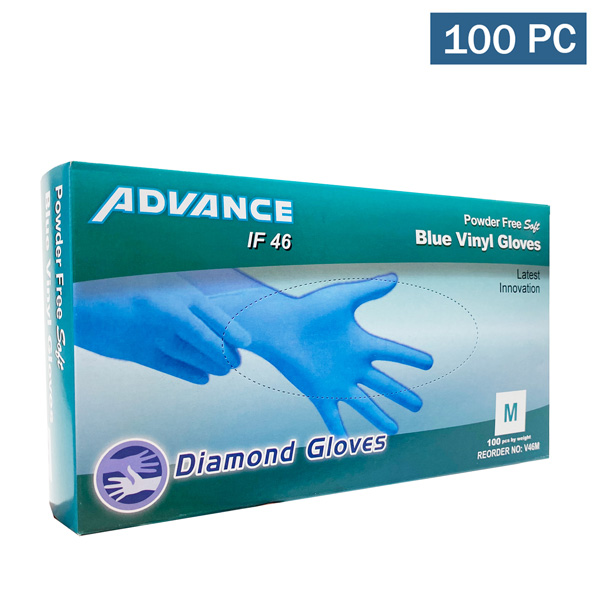 diamond advance IF46 vinyl blue gloves wholesale cheap los angeles