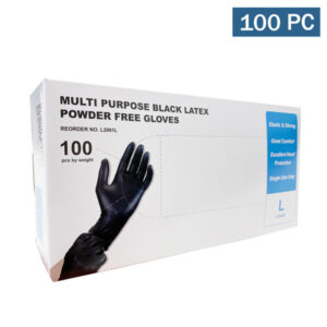 Multi-Purpose Black Latex Disposable Gloves wholesale cheap los angeles