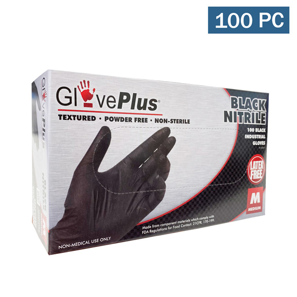 gloveplus black nitrile gloves wholesale cheap los angeles