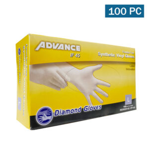 Diamond Advance Cream Synthetic Vinyl Gloves IF45- Medium