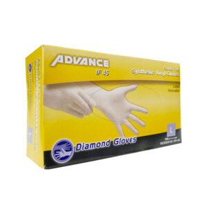 Diamond Advance Cream Synthetic Vinyl Gloves IF45- X-Large