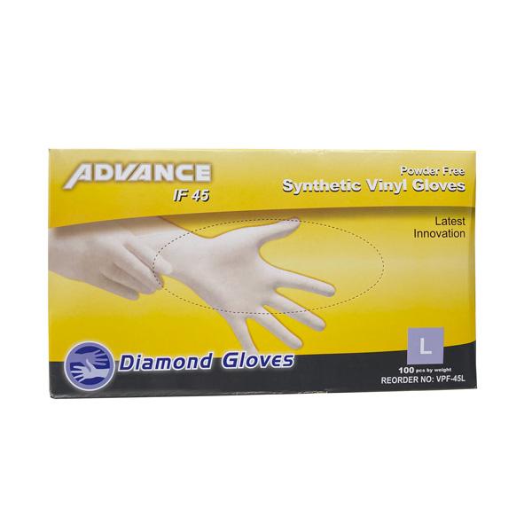 Diamond Advance Cream Synthetic Vinyl Gloves IF45