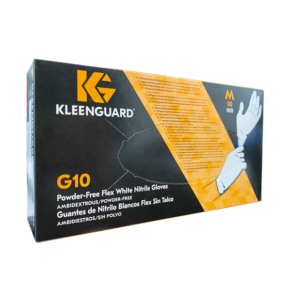 KleenGuard G10 Flex Nitrile Gloves, White, los angeles wholesale