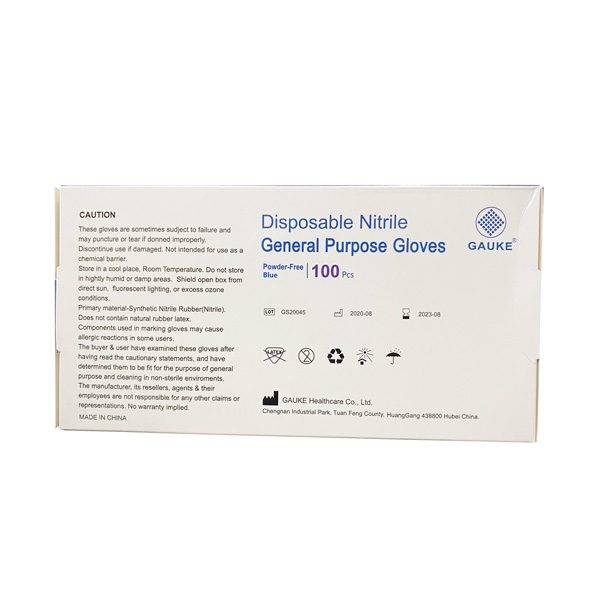 Gauke Nitrile Powder-Free Disposable Gloves Wholesale Los Angeles