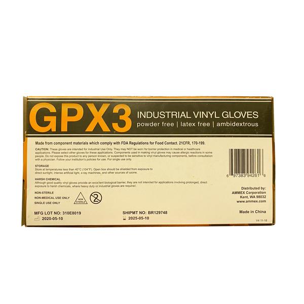 Ammex GPX3 Vinyl Glove, Wholesale, Los Angeles