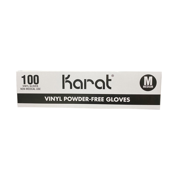 Karat Vinyl Powder-Free Disposable Glove Los Angeles Wholesaler Cheap
