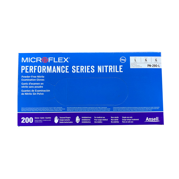 MicroFlex Performance Nitrile Exam Gloves, Blue Large Wholesale Los Angeles