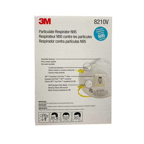 3M N95 8210V Face Mask Wholesale Distributor Los Angeles