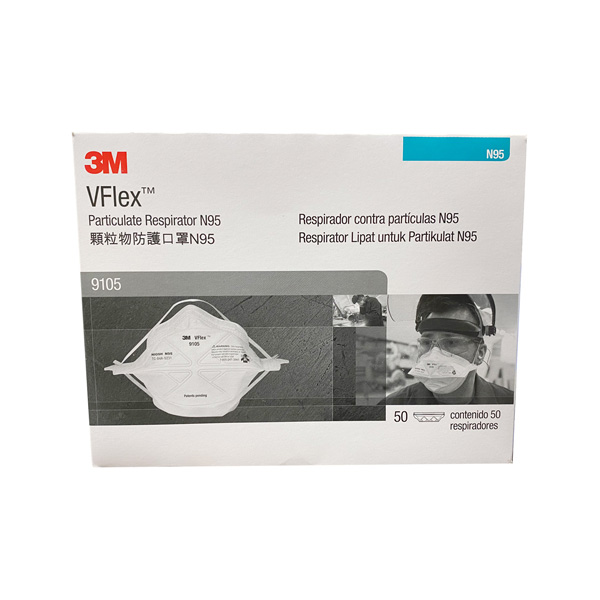 3M N95 VFLEX 9105 Face Mask Respirator Distributor Wholesaler Los Angeles