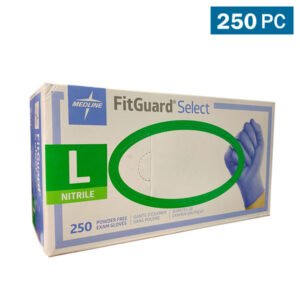 Medline FitGuard Select Chemo Exam Gloves, Blue - 250 Pieces Wholesale Los Angeles
