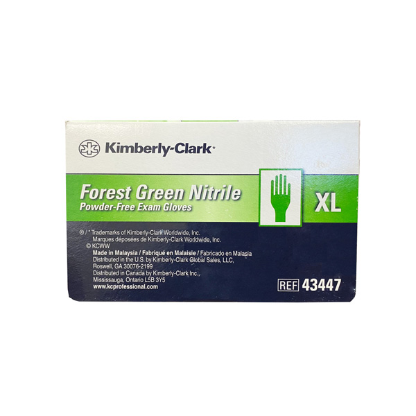 Kimberly Clark Nitrile Exam Chemo Gloves, Forest Green 200 Pieces XL Wholesale Los Angeles