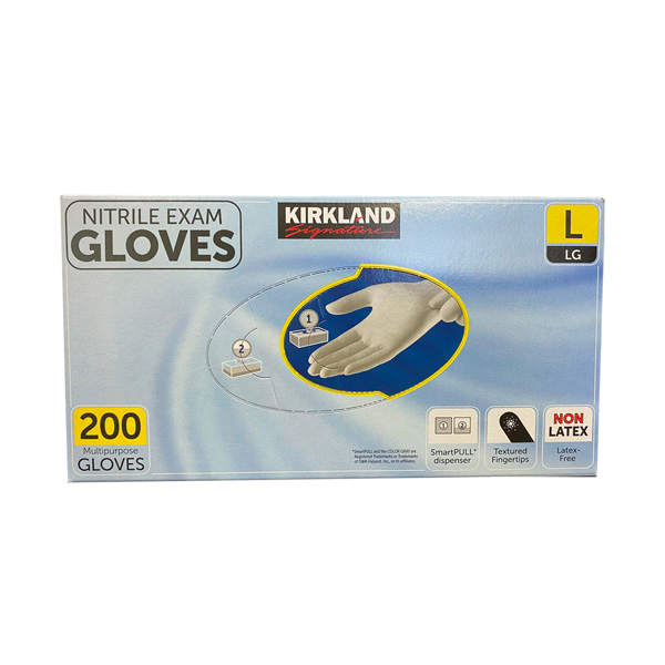 Kirkland Nitrile Exam Chemo Gloves, Light Gray 200 Pieces Wholesale Los Angeles