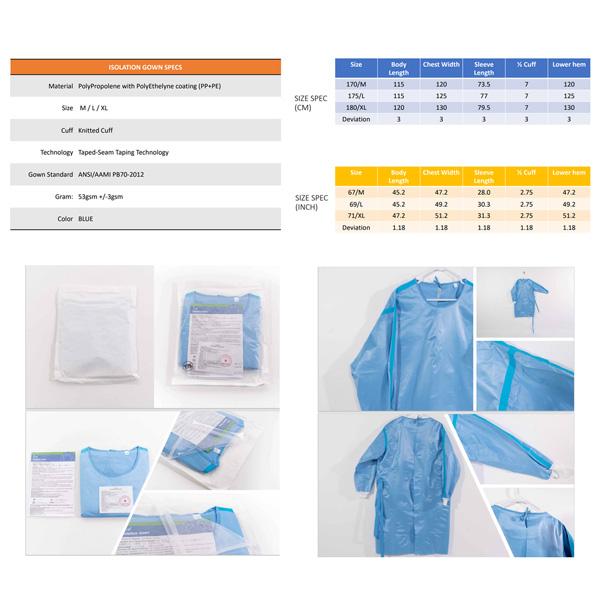 wholesale isolation gown level 4 sterile volume bulk los angeles california riverside