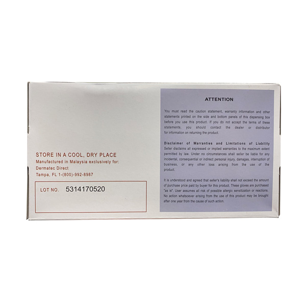 Dermatec Twilight Blue Nitrile Exam Gloves Wholesale