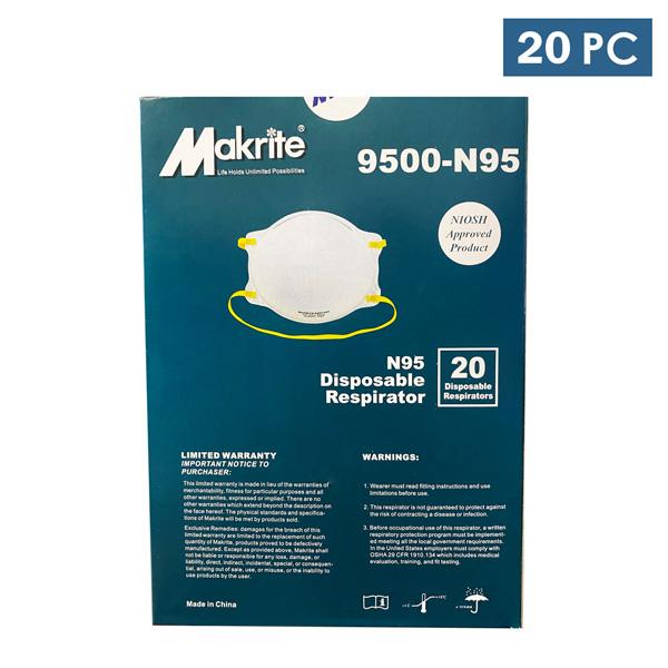 Makrite N95 9500-N95 Face Mask Medical