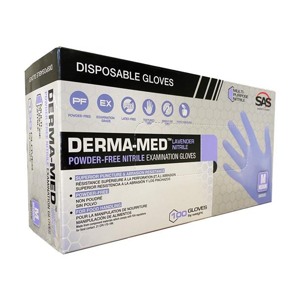 SAS Derma-Med Nitrile Exam Gloves Wholesale Cheap los angeles