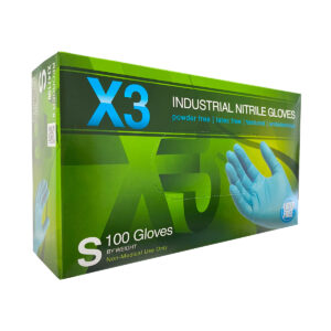 Ammex X3 Nitrile Blue Gloves Wholesale Los Angeles Cheap