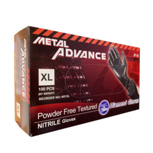 Advance IF51 Black Nitrile Exam Industrial Gloves Wholesale Los Angeles