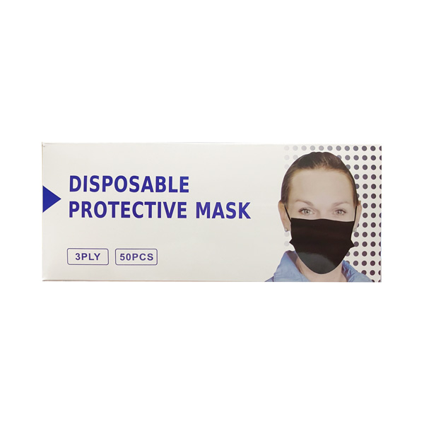 Black 3PLY Layer Face Mask Wholesale Los Angeles