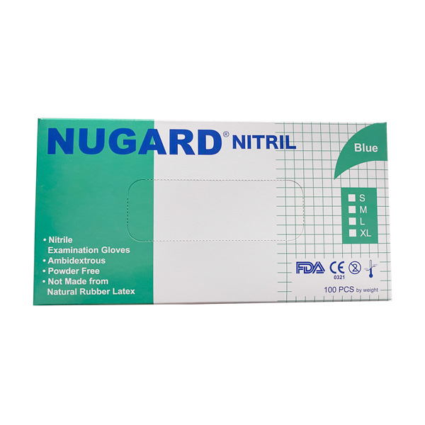 Nugard Nitrile Exam Blue Gloves Wholesale Los Angeles