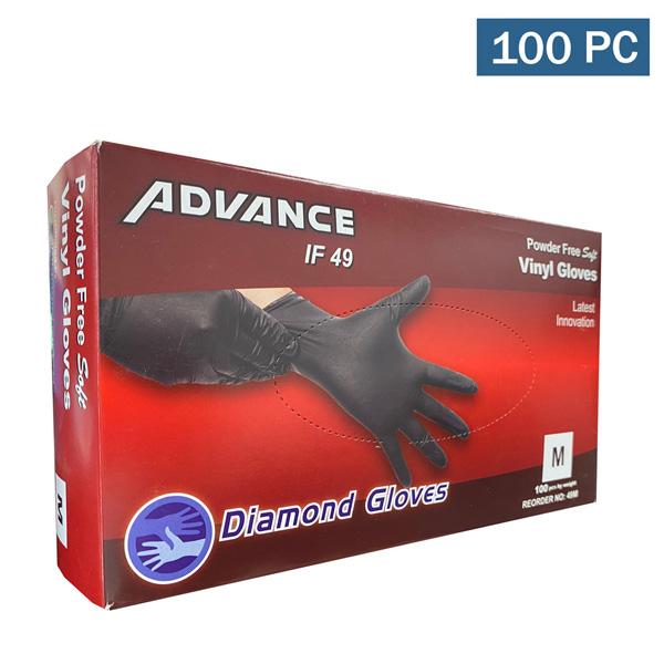 Advance Black Vinyl Industrial Gloves Wholesale Los Angeles Riverside Cheap Powder Free