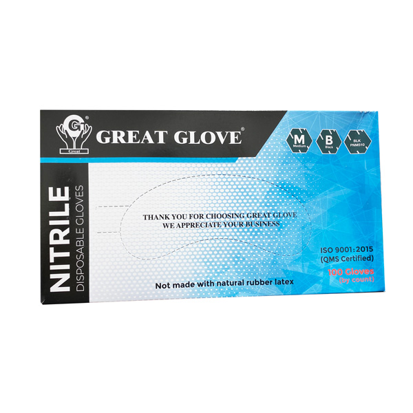 Great Glove Black Nitrile Wholesale Cheap Los Angeles Powder-Free Food Safe Tattoo Moreno Valley Riverside